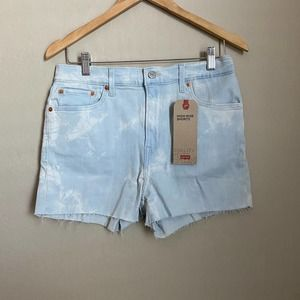 Levi's High Rise Bleached Wash Shorts Size 30
